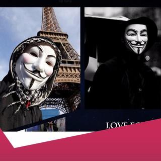 [SALE SẬP SÀN] Mặt nạ Hacker mặt nạ Anonymous hàng dẹp loại 1 (Trắng)