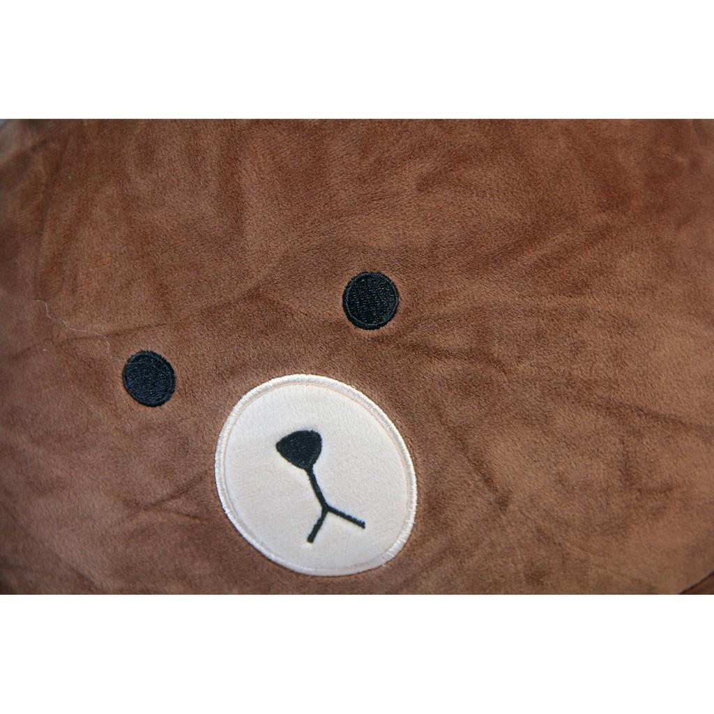 [THANH LÝ] Gối đầu lông mịn Oenpe hình gấu brown nâu siêu dễ thương