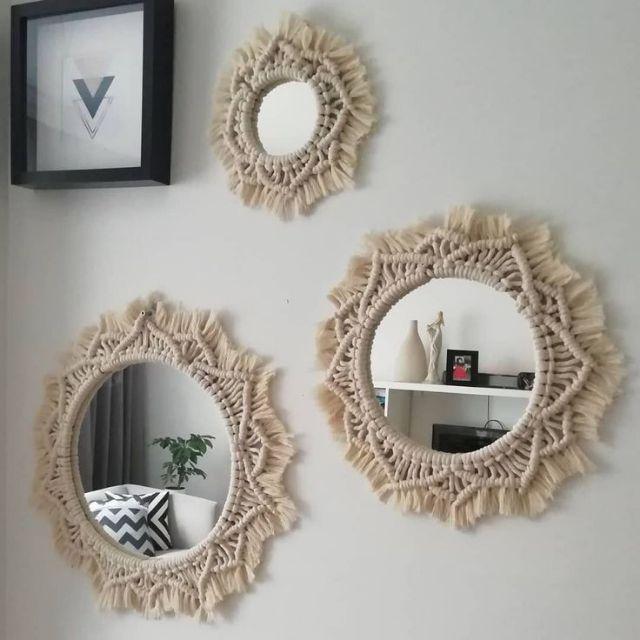 Giá bán Set 3 gương trang trí ❤️FREESHIP❤️ gương bỉ phôi nhập khẩu gương  soi gương trang điểm gương treo tường