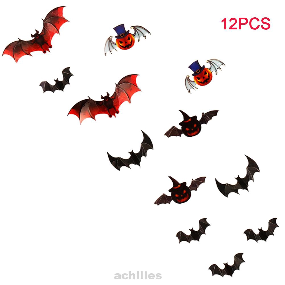 3D Adhesive Bat Shape Decoration Halloween Party Home Wall Sticker
