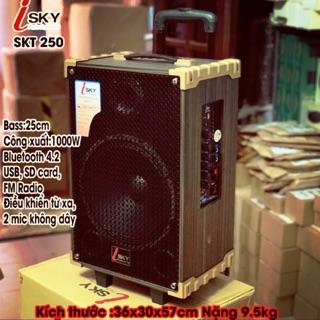 Loa kéo di động - karaoke - giá rẻ - nhỏ gọn công suất 1000ư siêu bas 25cm JSKY SKT250 thumbnail
