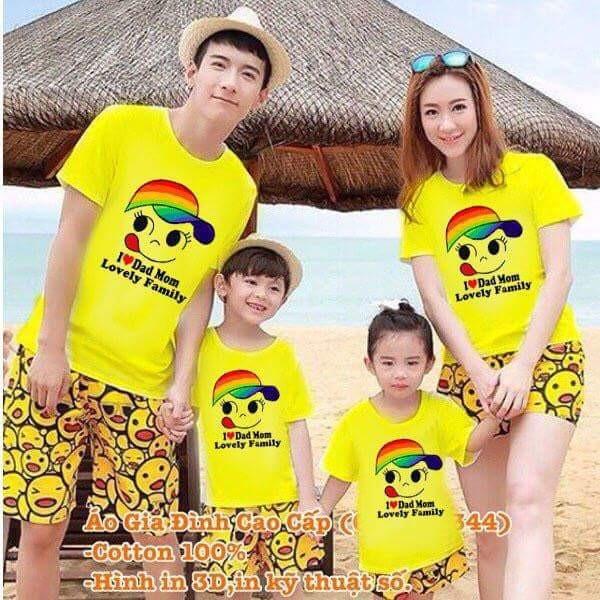 áo thun gia đình mặt cười