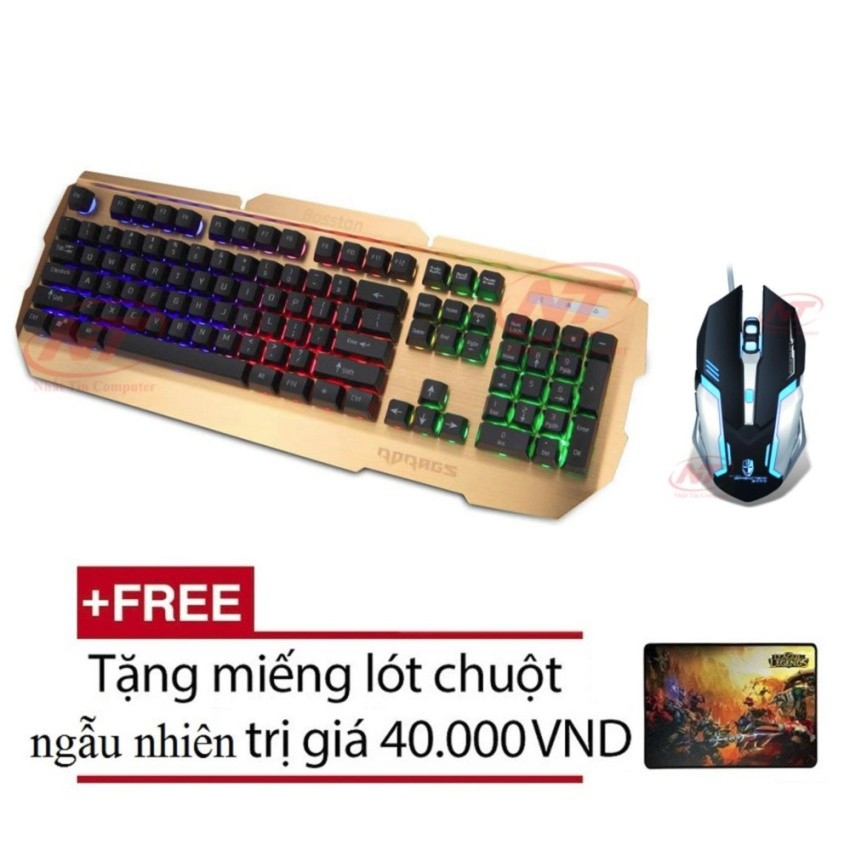 Bộ bàn phím giả cơ và chuột chuyên game Rdrags R500 - BOKAI F20 (Đen) + Tặng kèm lót chuột