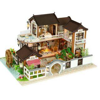 Kèm mica và dụng cụ – Mô hình nhà gỗ búp bê dollhouse DIY – 13848 Dream back to ancient town