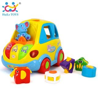 Xe Bus thả khối thông minh Smart Bus Huile Toys 896
