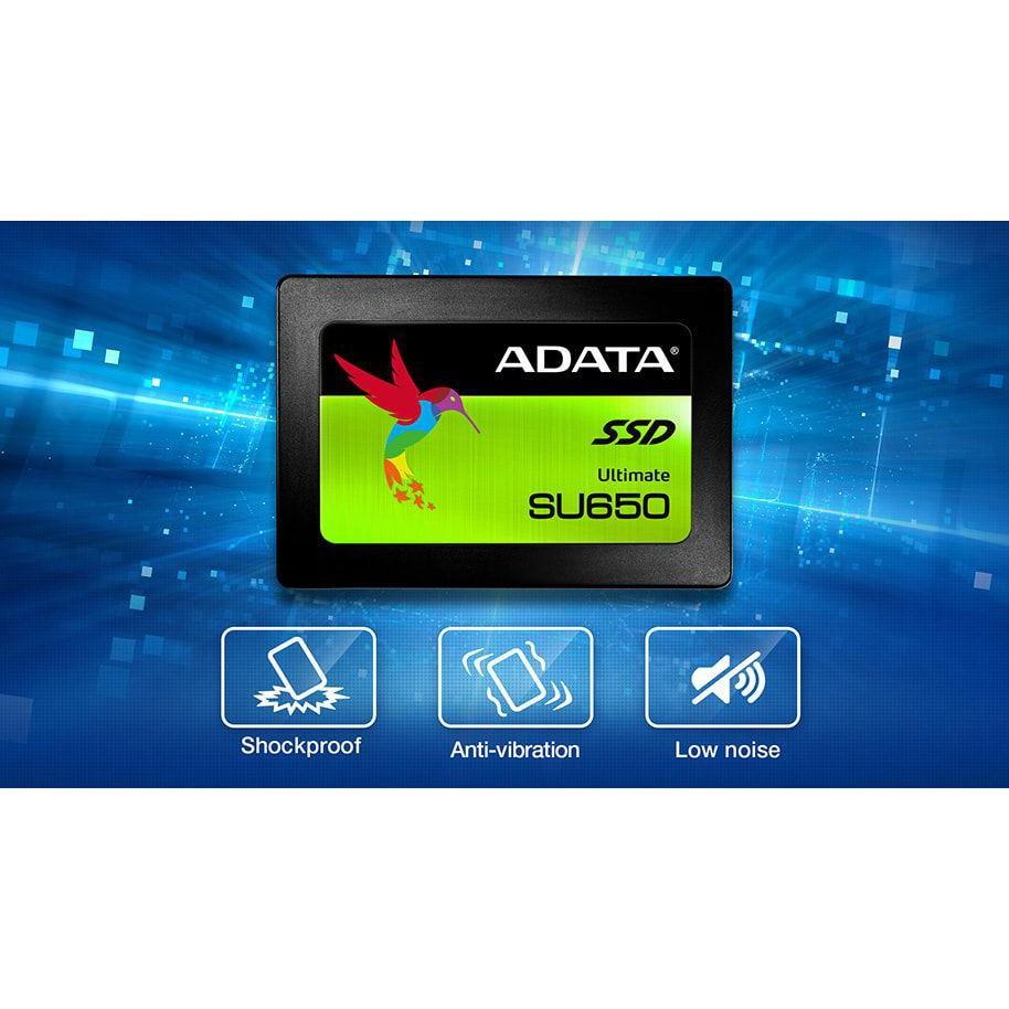 Ổ Cứng SSD Adata 120GB/240GB/480GB Sata III SU650 bảo hành 3 năm 1 đổi 1