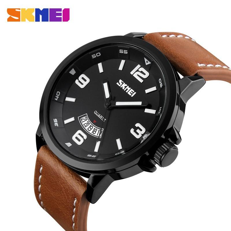 Đồng hồ nam SKMEI chính hãng Fullbox, dây da phong cách thể thao, mạnh mẽ - SKMI7