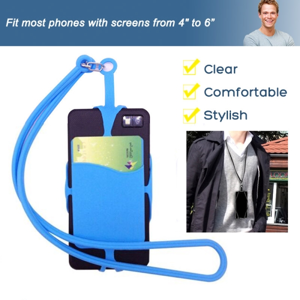Lanyard Cell Phone Neck Strap Case Cover Card Holder for iPhone Samsung Giá chỉ 19.600₫
