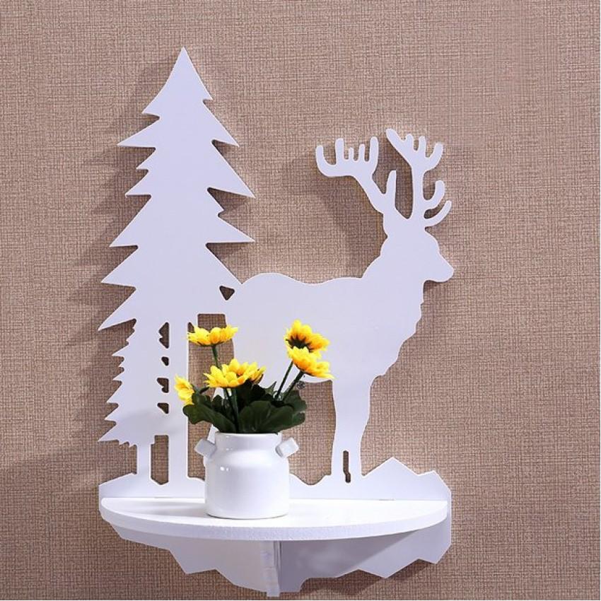 Bộ 2 kệ treo tường Noel Reindeer Zento CD309