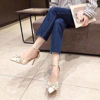 Giày Cao Gót Nữ Đính Đá Thời Trang 2021