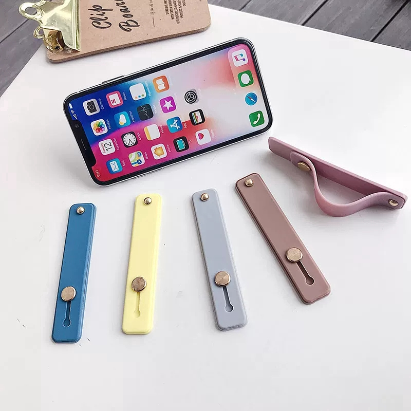 Gía đỡ điện thoại dạng vòng đeo tay màu trơn cho iPhone/Android