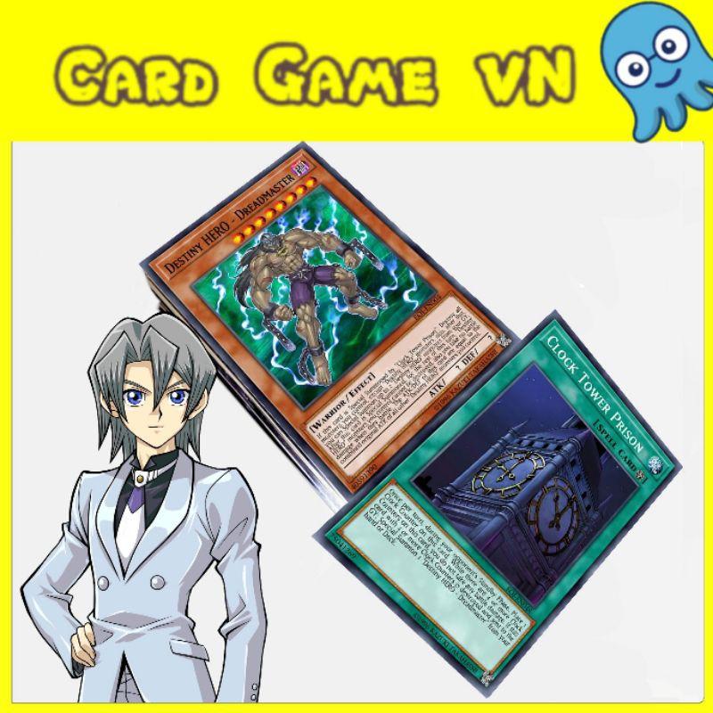 [BÀI IN] Bài YuGiOh – Bộ 63 lá bài Destiny Hero của Aster Phoenix ( Edo ) – Card Game VN