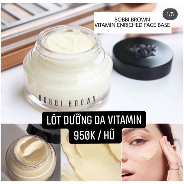 Kem Lót Dưỡng Da Che Phủ Lỗ Chân Lông Cho Lớp Nền Siêu Căng Mịn Kem Lót Bobbi Brown Vitamin Enricher Face Base