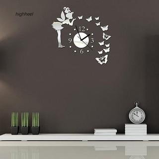 Đồng hồ mặt bướm dán tường trang trí nội thất