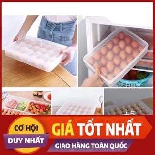 {Rẻ Vô Địch} { HÀNG CAO CẤP} Hộp để trứng 1 tầng 24 ô tiện dụng VIỆT NHẬT