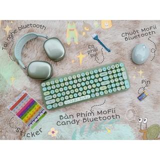 (CÓ SẴN) Bàn phím và chuột không dây MoFii Candy Bluetooth dùng cùng lúc 3 thiết bị thumbnail