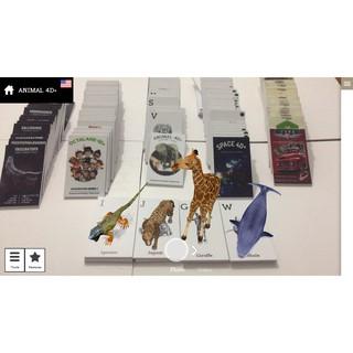 [COMBO] 1 Bộ thẻ Động vật Animal 4D + 1 Bộ thẻ Không Gian Space 4D