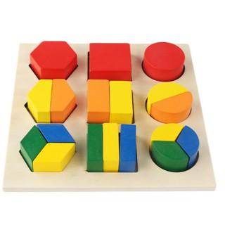 Giáo cụ Montessori – Bảng ghép hình (Mẫu 1)