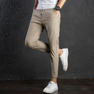 HOT rack Pants 4 Color Jogger Unisex Stretchable pure color pant