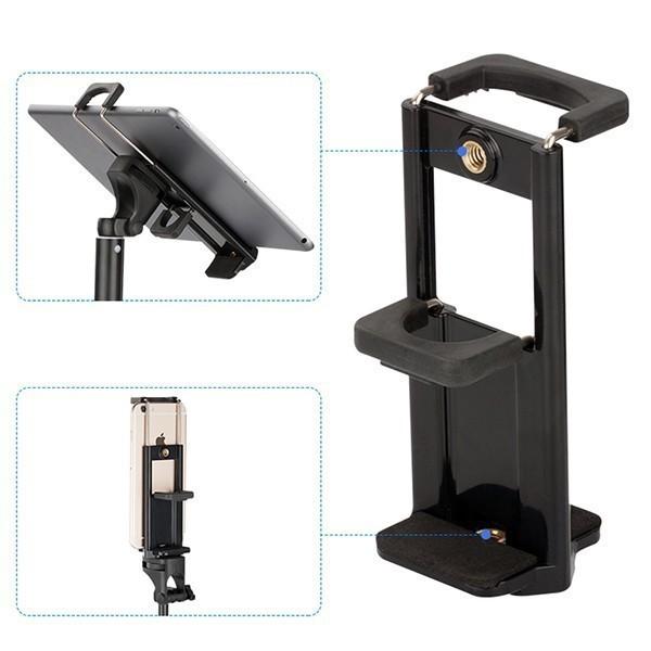Giá đỡ Ipad điện thoại tripod chân thép 2m điều chỉnh được