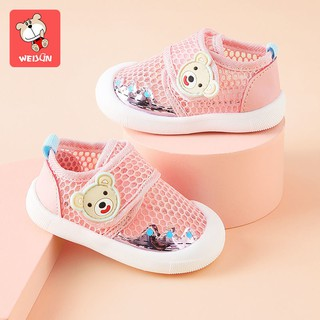 Children's toddler shoes soft bottom spring, autumn and summer 1-2 years old baby boys non-slip baby shoes girls breathable net shoes 0 non-drop shoes