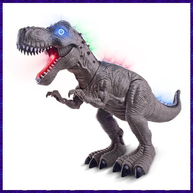 Electric Light Simulation Dinosaur Walking Roaring Toy for Kids Children Gift Random Color