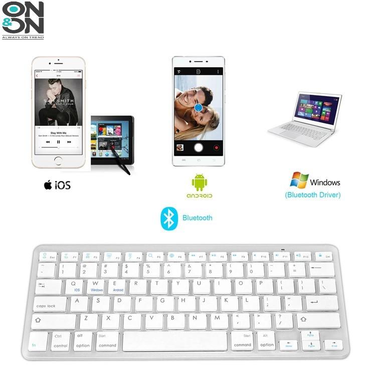 Bàn Phím Bluetooth Không Dây Cho Điện Thoại, Máy Tính Bảng iPad