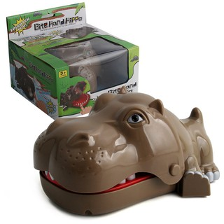 Creative Press Tooth Bite Finger Hippo Novelty Funny Prank Toy Gift