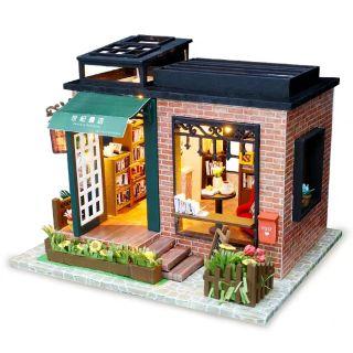 Mô hình nhà gỗ lắp ráp Dollhouse DIY – Kèm mica – C008 Century Bookstore