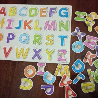 Combo sách gỗ và bảng ghép chữ cho bé