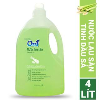 Nước lau sàn On1 tinh dầu Sả 4L - Sàn sạch, sáng bóng thumbnail