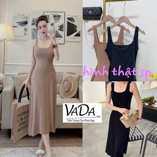 Đầm xòe 2 dây bản vừa mặc thoải mái phù hợp với mọi phong cách -Thời Trang VADA (N189) thumbnail