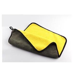 Khăn lau xe hơi, ô tô 2 lớp màu vàng cao cấp siêu sạch siêu thấm hút -Qcar Store 4