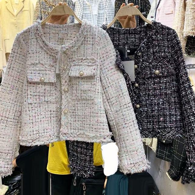 [Ảnh Thật]Áo Dạ Tweed Khuy Ngọc Chất Đep Dã Man