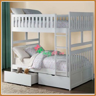 Giường tầng trẻ em BB015 nhiều màu kèm 2 hộc kéo ( trên 1m4 dưới 1m4 )
