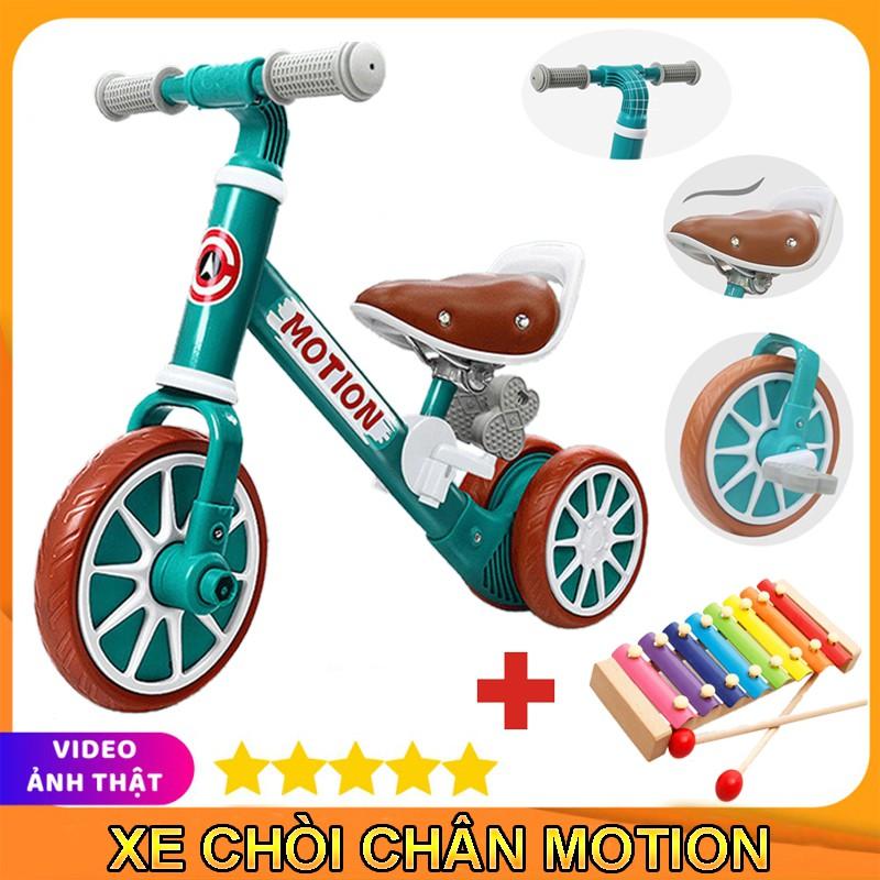Xe chòi chân thăng bằng cho bé MOTION, có bàn đạp 2in1 yên bằng da, khung xe chắc chắn – TẶNG KÈM ĐÀN XYLOPHONE 8 THANH