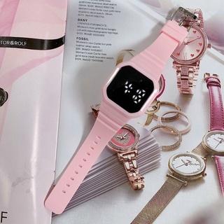 Đồng hồ nam nữ Led cảm ứng mặt vuông thời trang