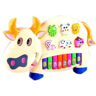 Đồ chơi đàn piano hình chú bò sữa [Tmarkvn]
