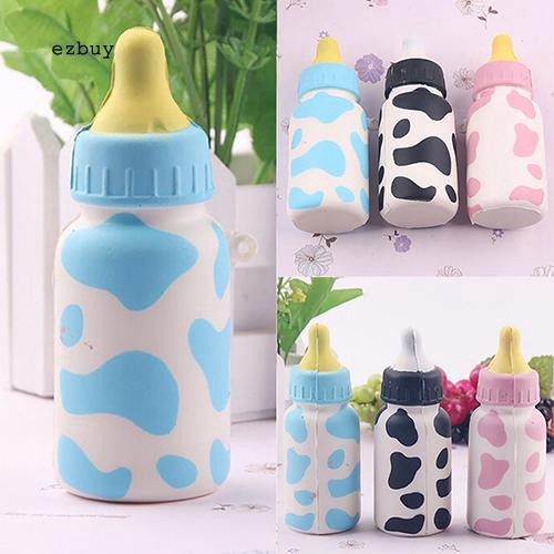 【EY】Feeding Bottle Squishy Toy Milk Cow Print Scented Children Playset for Cell Phone Charm Hshop