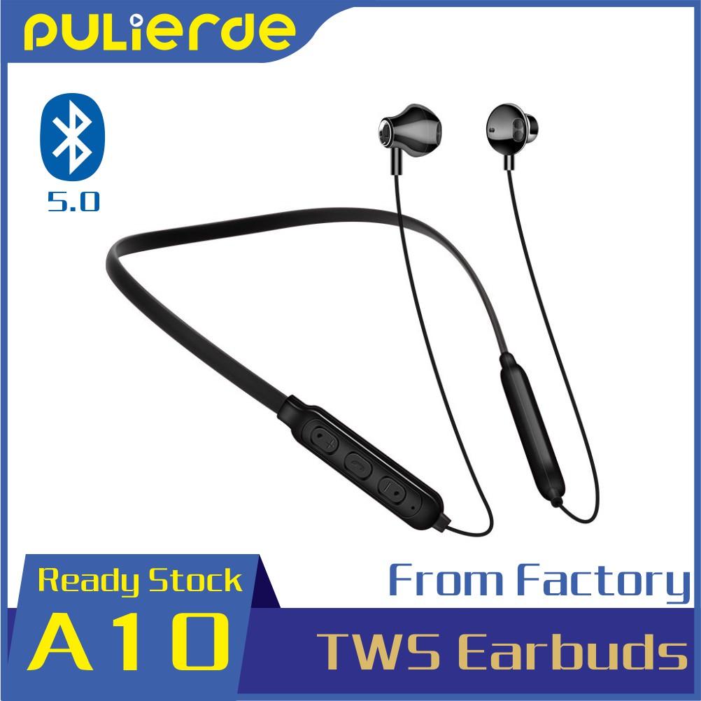 Tai nghe thể thao PULIERDE không dây Bluetooth 5.0 kiểu nhét tai cao cấp