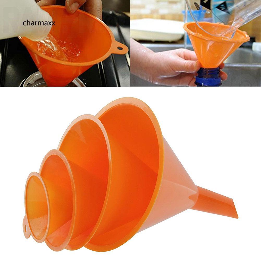 Set 4 phễu nhựa hỗ trợ đong rót xăng dầu đa năng