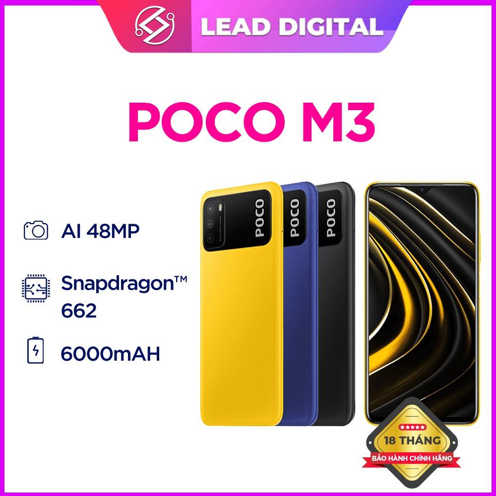 Điện Thoại Xiaomi Poco M3 4GB/ 64GB-Chính Hãng Nguyên Seal 100%-Bảo Hành 18th 1