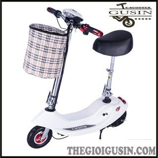 Xe Điện E-scooter mini Màu Trắng / GuSin Phân Phối Chính Hãng / Sỉ lẽ Toàn Quốc