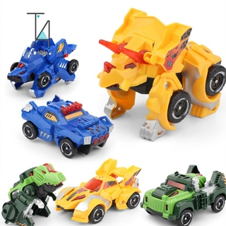 Gift Tabitha Children's Toy Dinosaur Deformation Car Robot Model Inertia Car Gift
