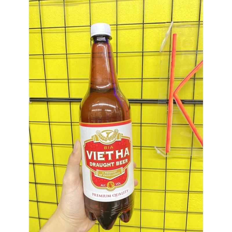 Bia tươi Việt Hà chai 1 lít