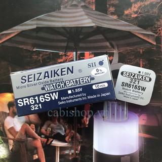 Pin Seizaiken SR616SW - SR616 - 616 - 321 Của Hãng Seiko - Pin Đồng Hồ Đeo Tay Chính Hãng thumbnail