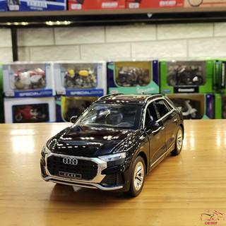 [Mã TOYTET32 giảm 15% đơn 99K] [FREESHIP] Xe mô hình trưng bày ô tô Audi Q8 tỉ lệ 1:24 màu đen