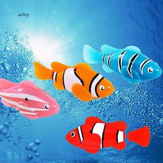 ♞Cute Electronic Pets Toy Fish Tank Robot Fish Swimming Clownfish Children Gifts