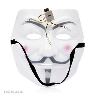 MẶT NẠ HÓA TRANG HACKER anonymous màu trắng (bán sỉ 9k)