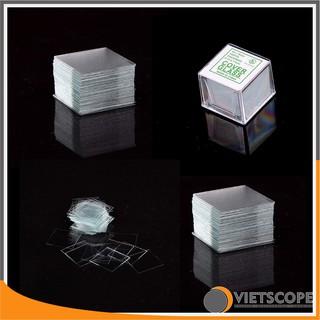 Bộ 100 lamen thủy tinh dành cho kính hiển vi 18x18mm - La men kính hiển vi Cover Glass chất lượng cao thumbnail